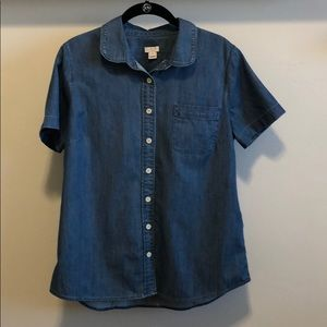 J. Crew Tops - J. Crew Short Sleeve Chambray Shirt
